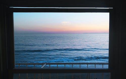 Fotobanka sbezplatnými fotkami na tému oceán, pláž, sklenené okno, vodné teleso