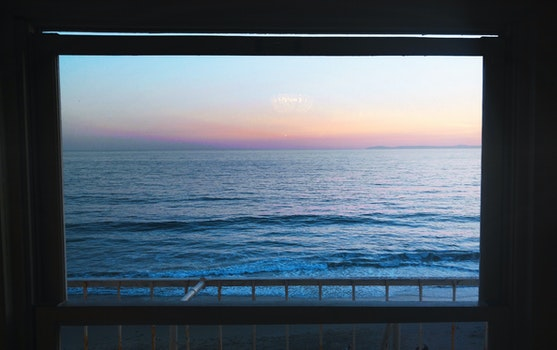 Free stock photo of beach, ocean, glass window, body of water