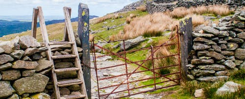 Free stock photo of Downhill Snowdon Path