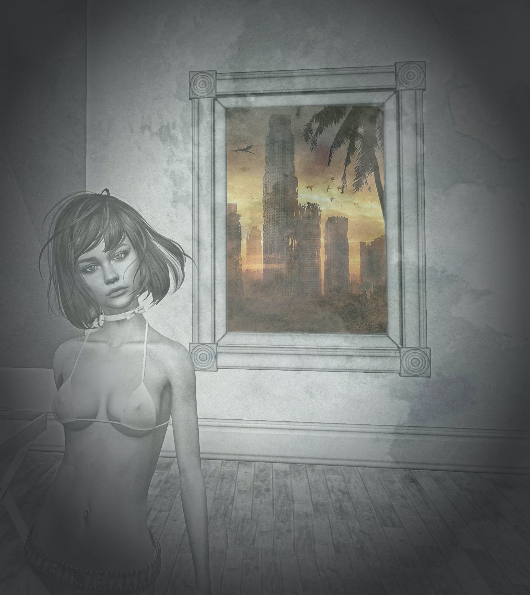 Free stock photo of abstract, apocalyptic, girl
