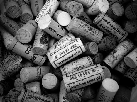 Free stock photo of black-and-white, wooden, cork, text