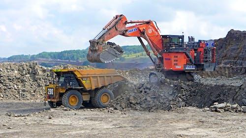 Gratis stockfoto met auto, graafmachine, graver, mijnbouw