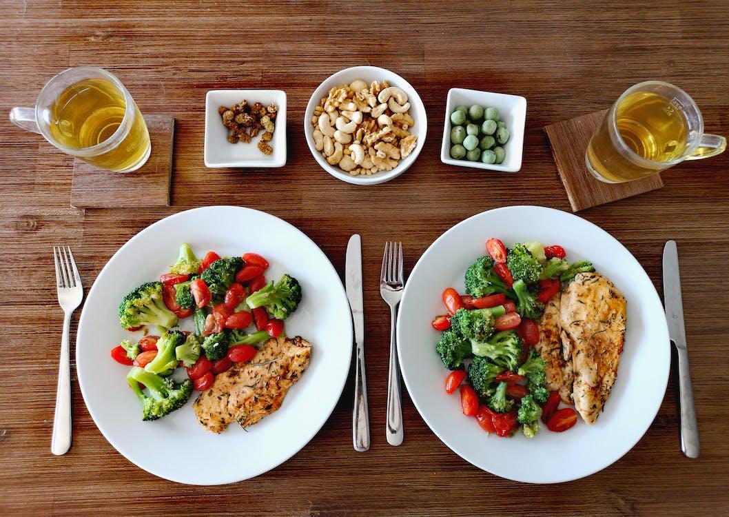 abendessen, besteck, brokkoli