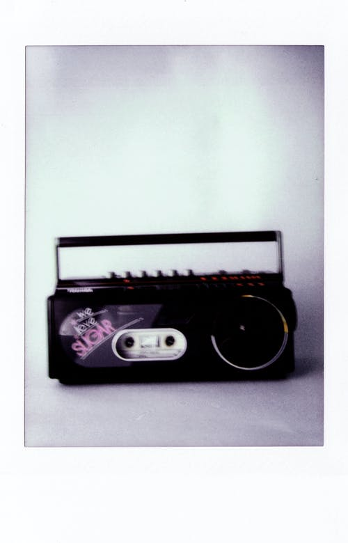 Polaroid Photo Of A Boombox