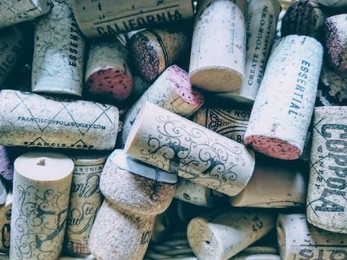 와인, 코르크, 포도주, 플랫레이의 무료 스톡 사진