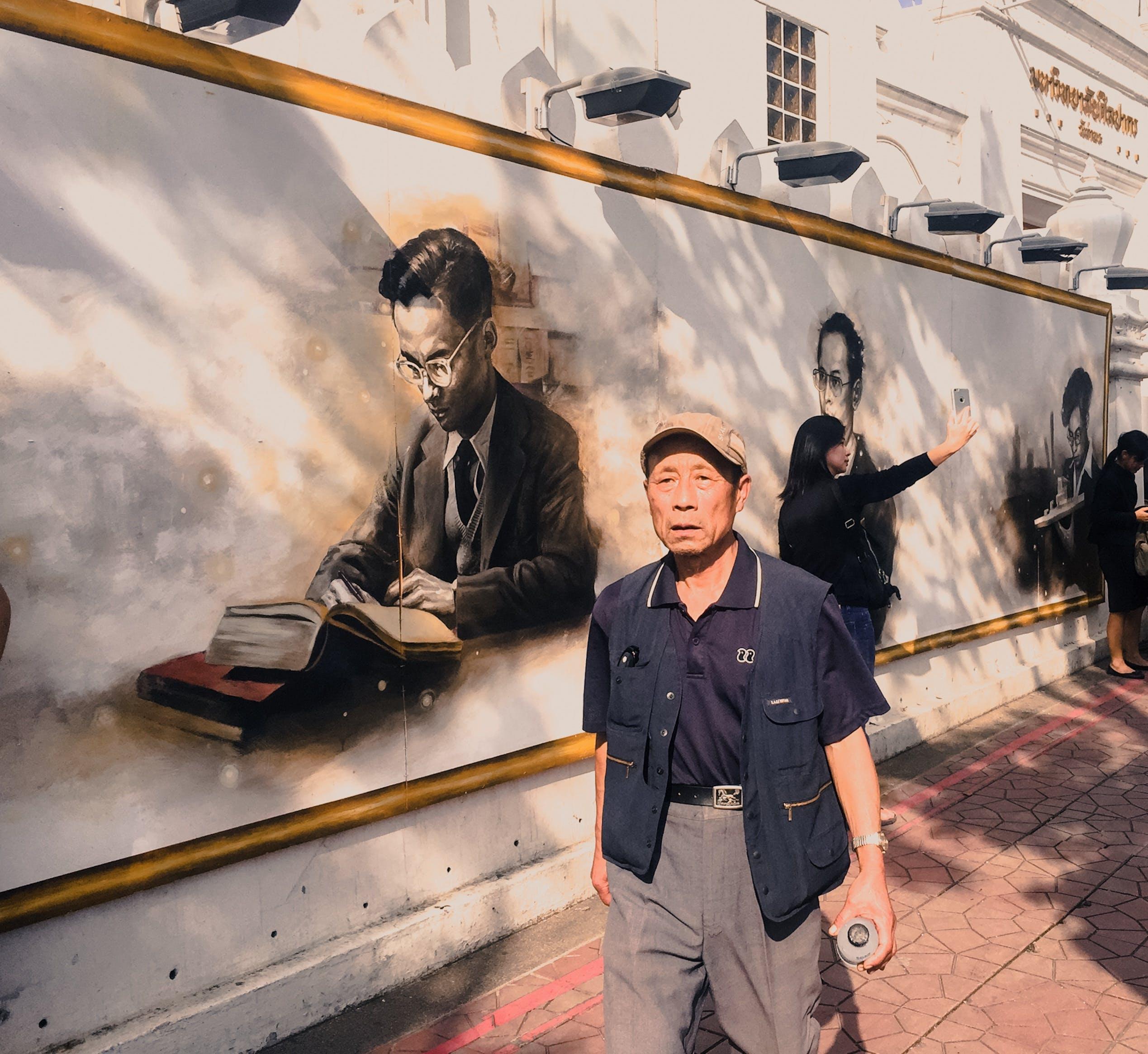 Free stock photo of king, love, people, street art