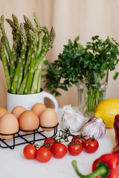 Set of ingredients for healthy salad