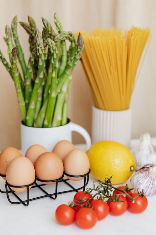 Fresh ingredients for pasta preparation products