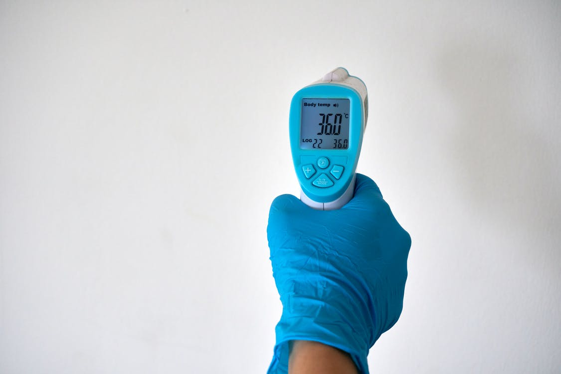 Person Holding A Thermometer