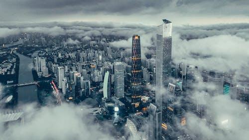 Foto profissional grátis de aéreo, aerofotografia, antena, arquitetura