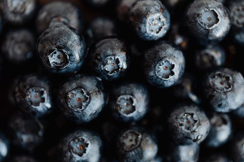 Bunch of raw fresh ripe blueberries