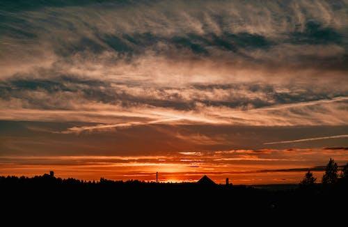 傍晚的天空, 光, 光線, 剪影 的 免費圖庫相片