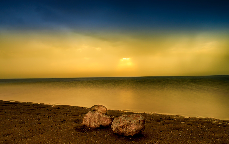 Free stock photo of beatch, blue sky, canon, landscape