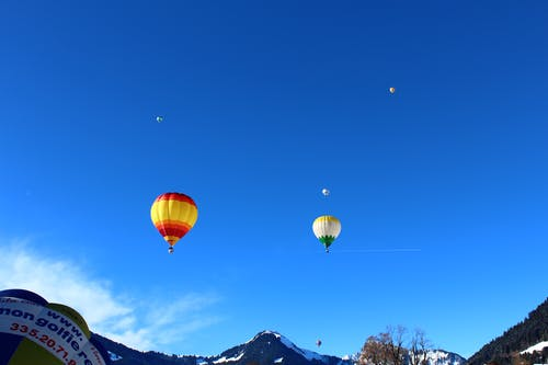 Free stock photo of alps, ballooing, balloon, flying