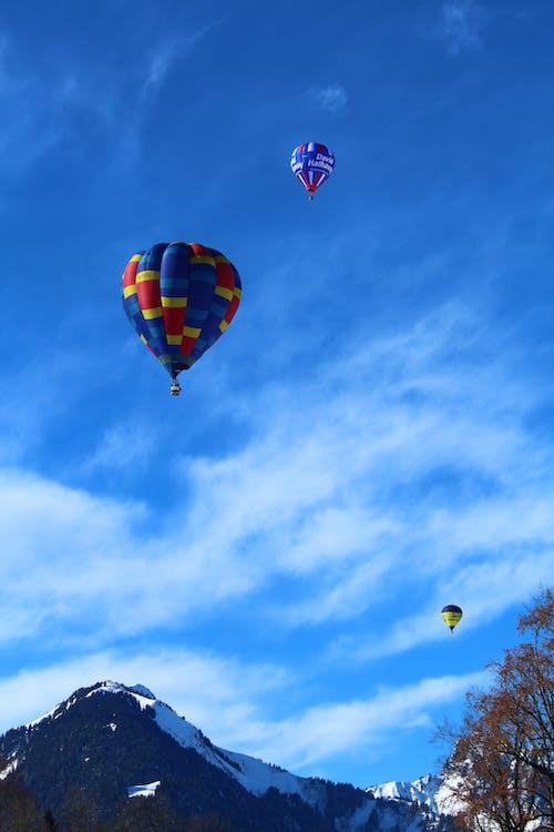 Free stock photo of alps, ballooing, balloon