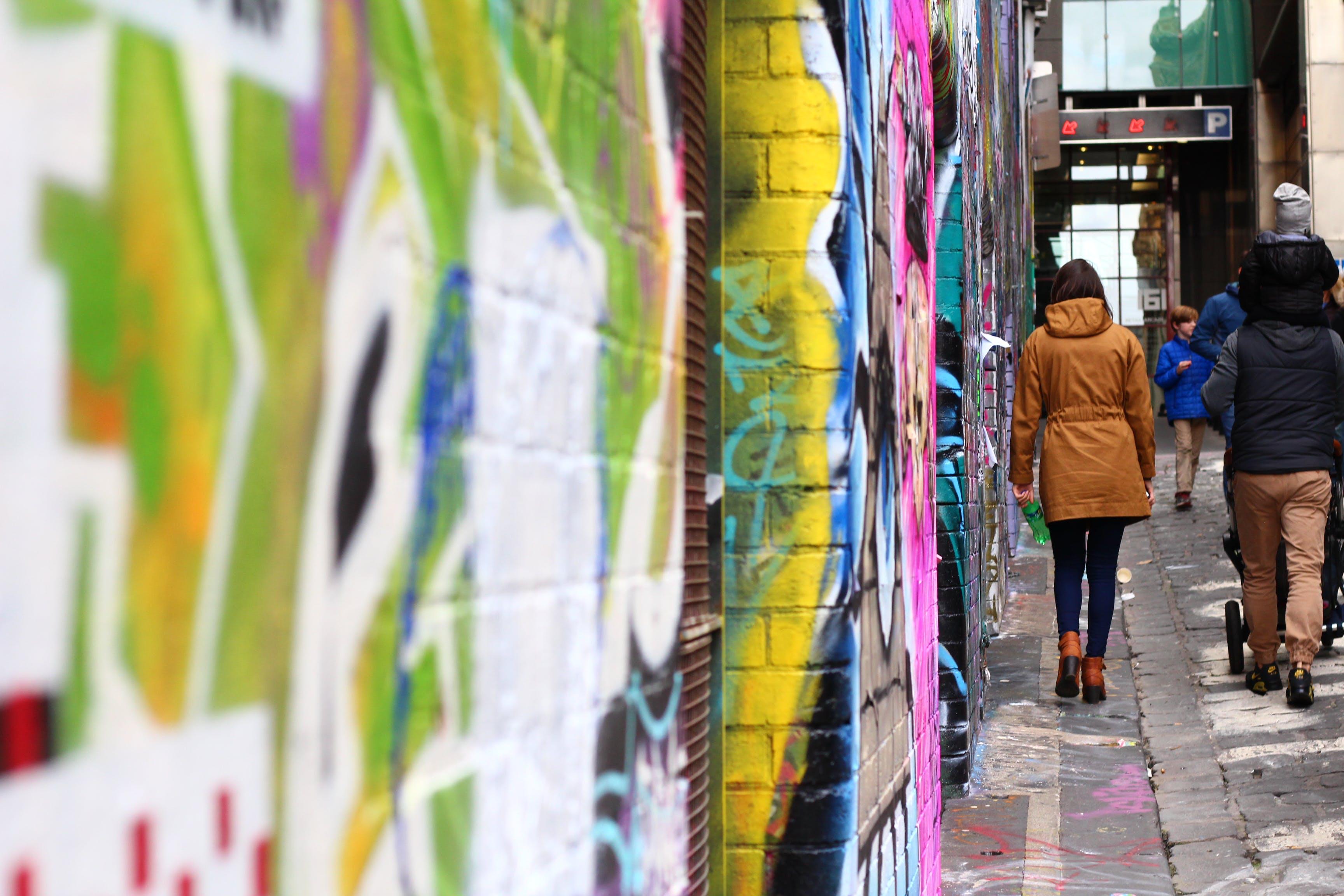 Free stock photo of art, australia, brick wall, bright