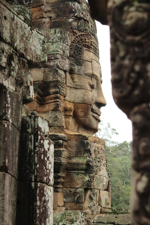 Δωρεάν στοκ φωτογραφιών με angor thom, siem riep, άγαλμα, αρχαίος