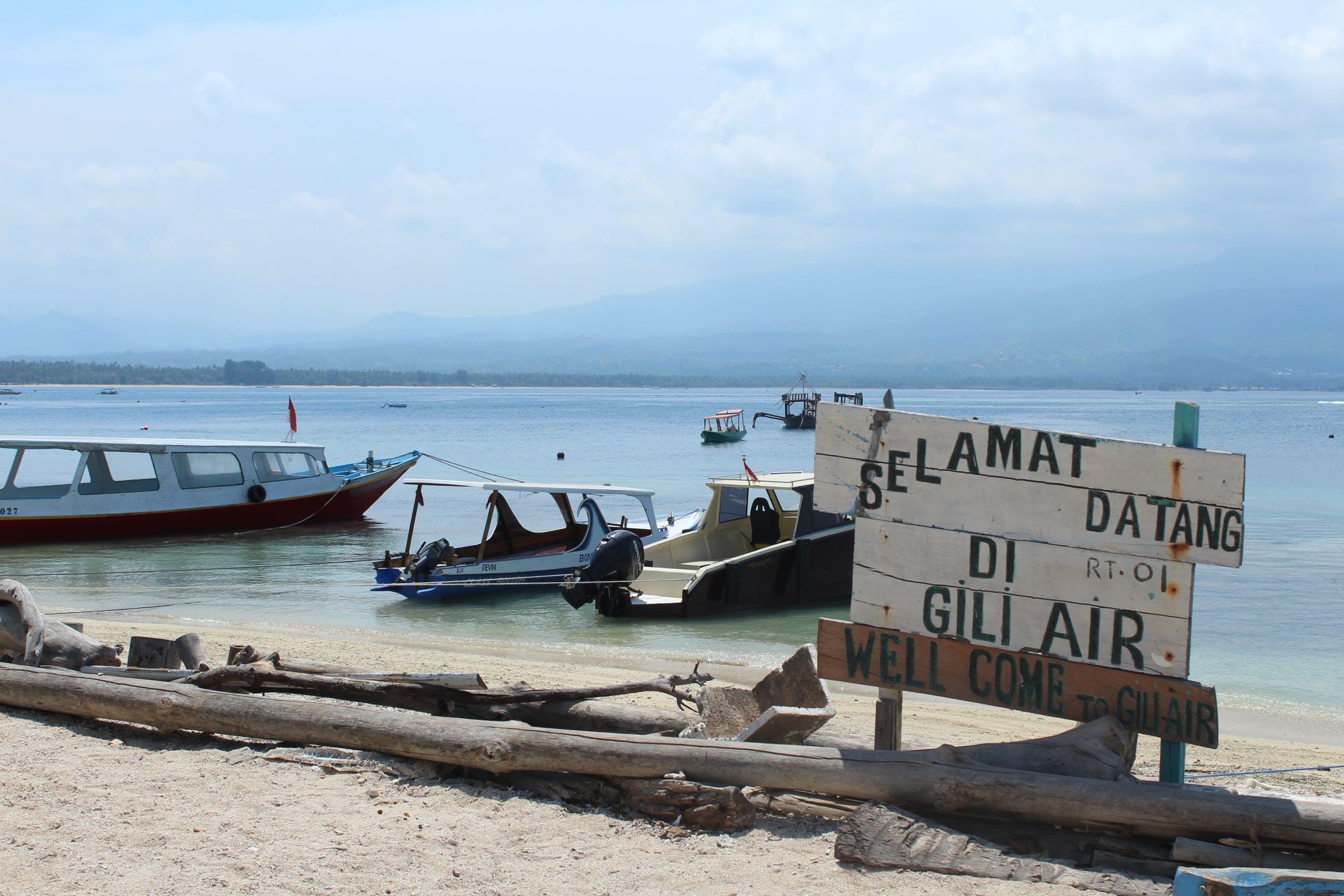 Free stock photo of beach, boat, coast, gili