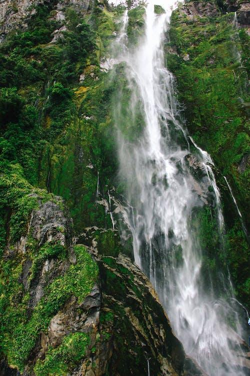 Waterfalls On Rocky Mountain