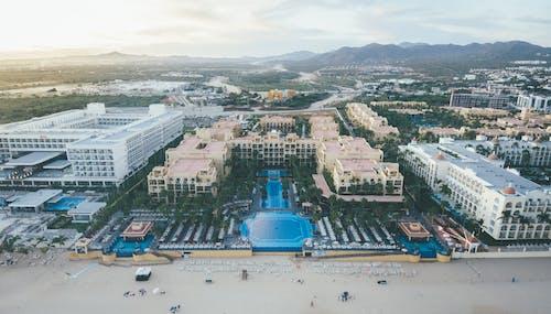 Aerial Shot Of Hotel Buildings