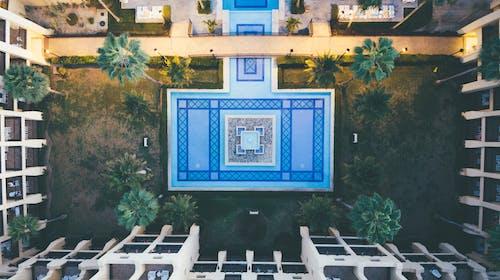 Aerial Shot Of Swimming Pool