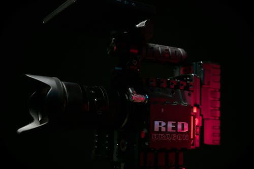 Black and Red Video Camera