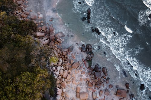 Aerial Shot Of Seashore