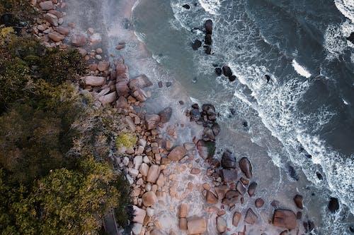 Fotobanka sbezplatnými fotkami na tému breh, dron, letecký, letecký záber