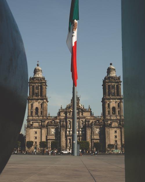 Free stock photo of famous landmark, mexican flag, mexico, Mexico City
