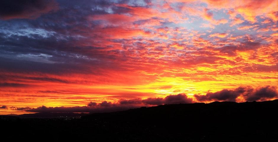 clouds, dawn, dramatic
