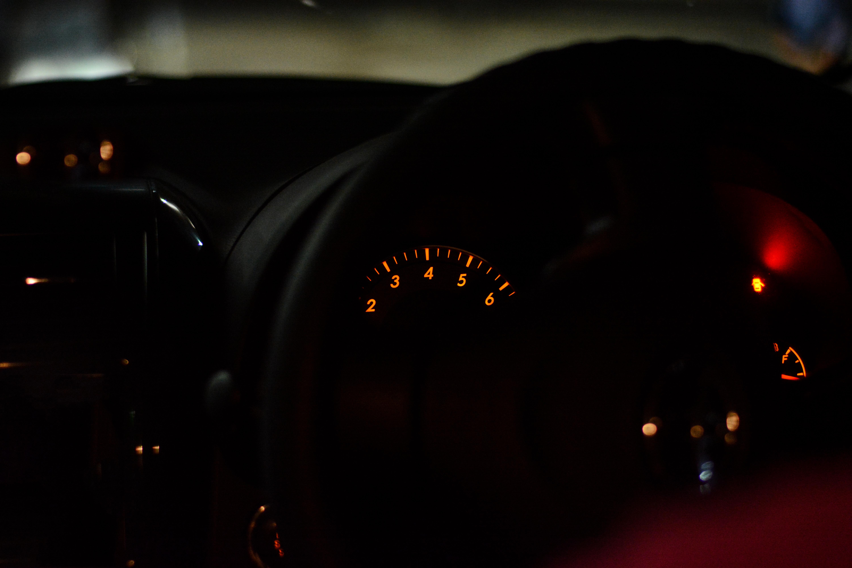 Black Car Speedometer Gauge