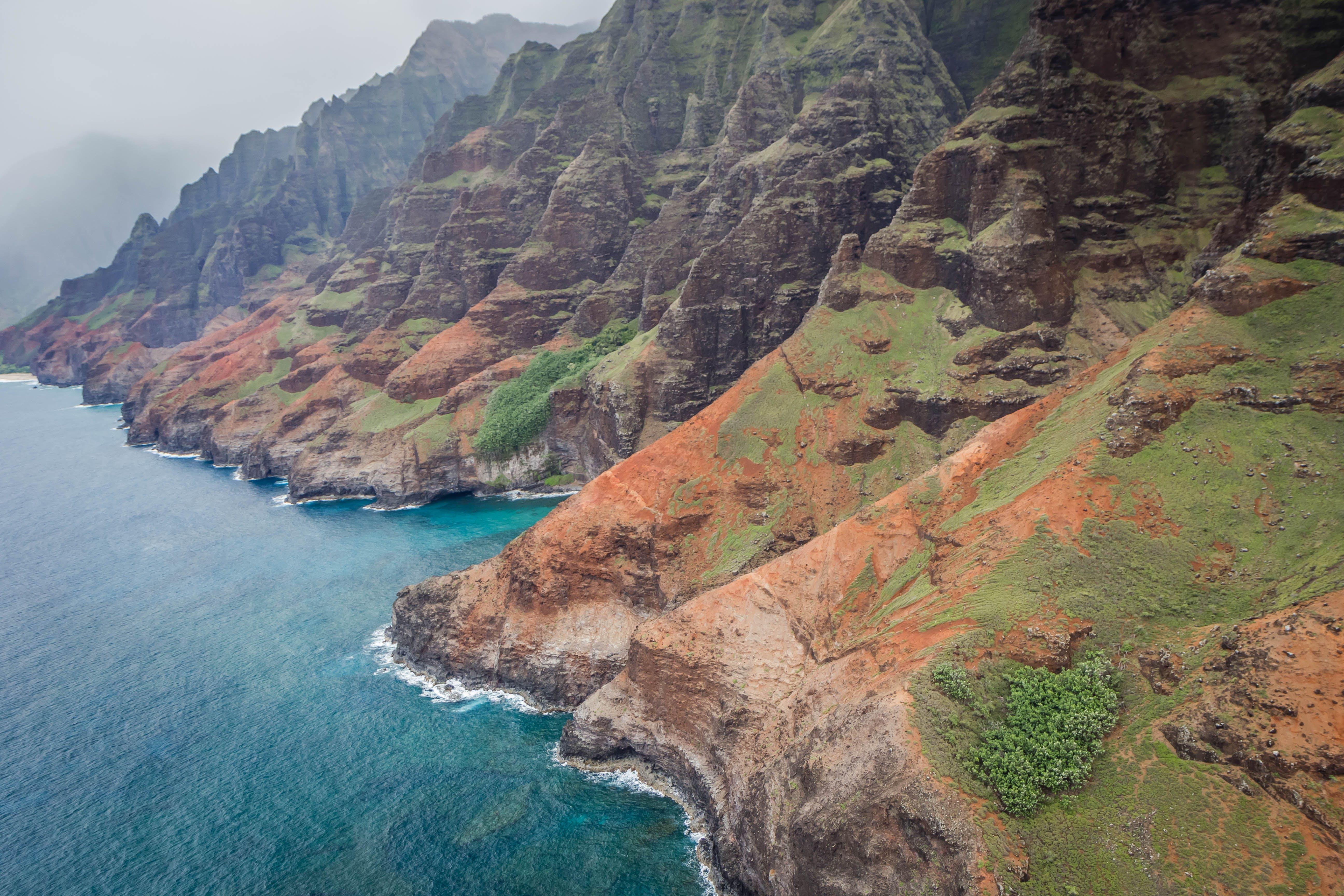 Free stock photo of cliff coast, hawaii, island, kauai