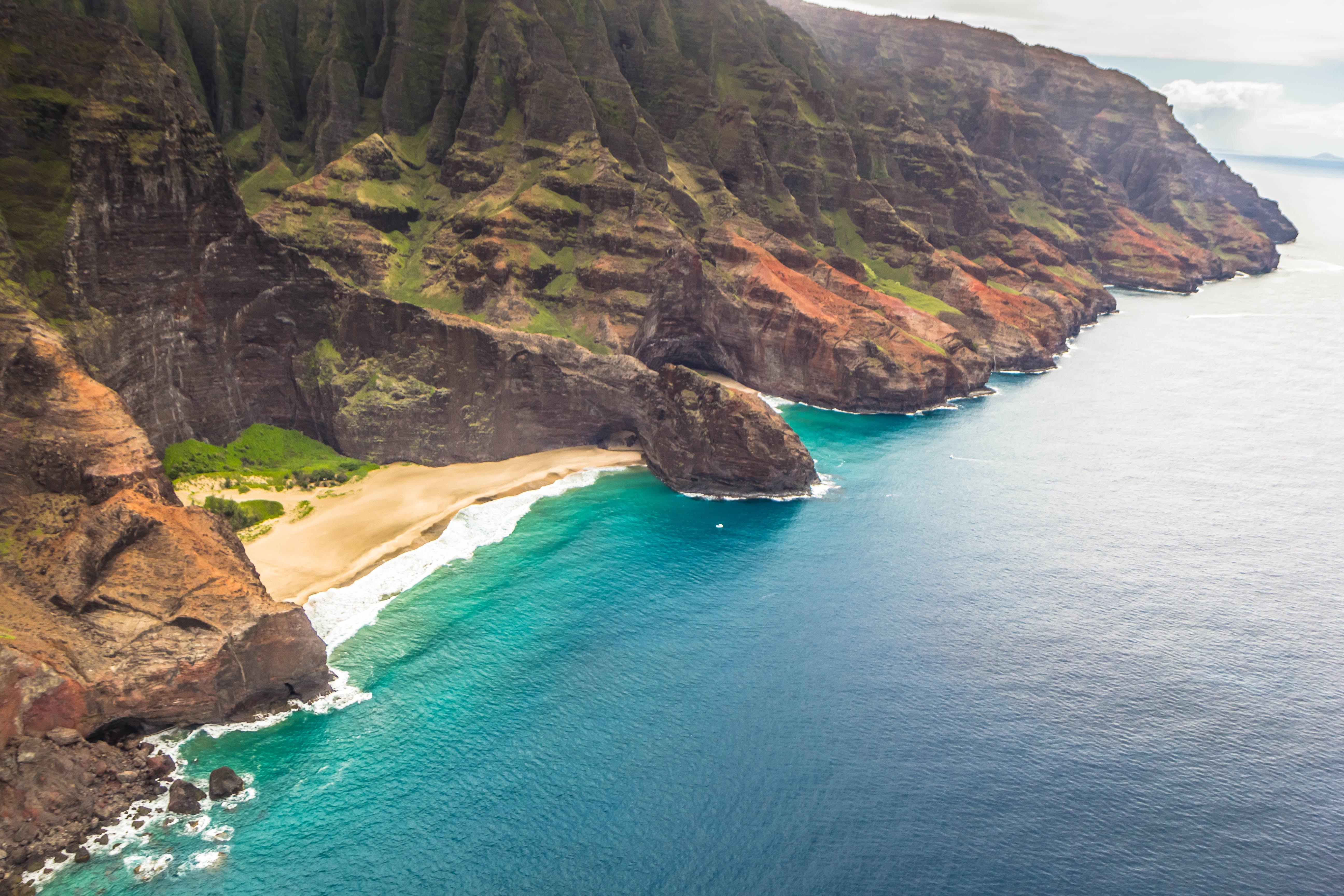 Free stock photo of beach, island, cliff coast, hawaii