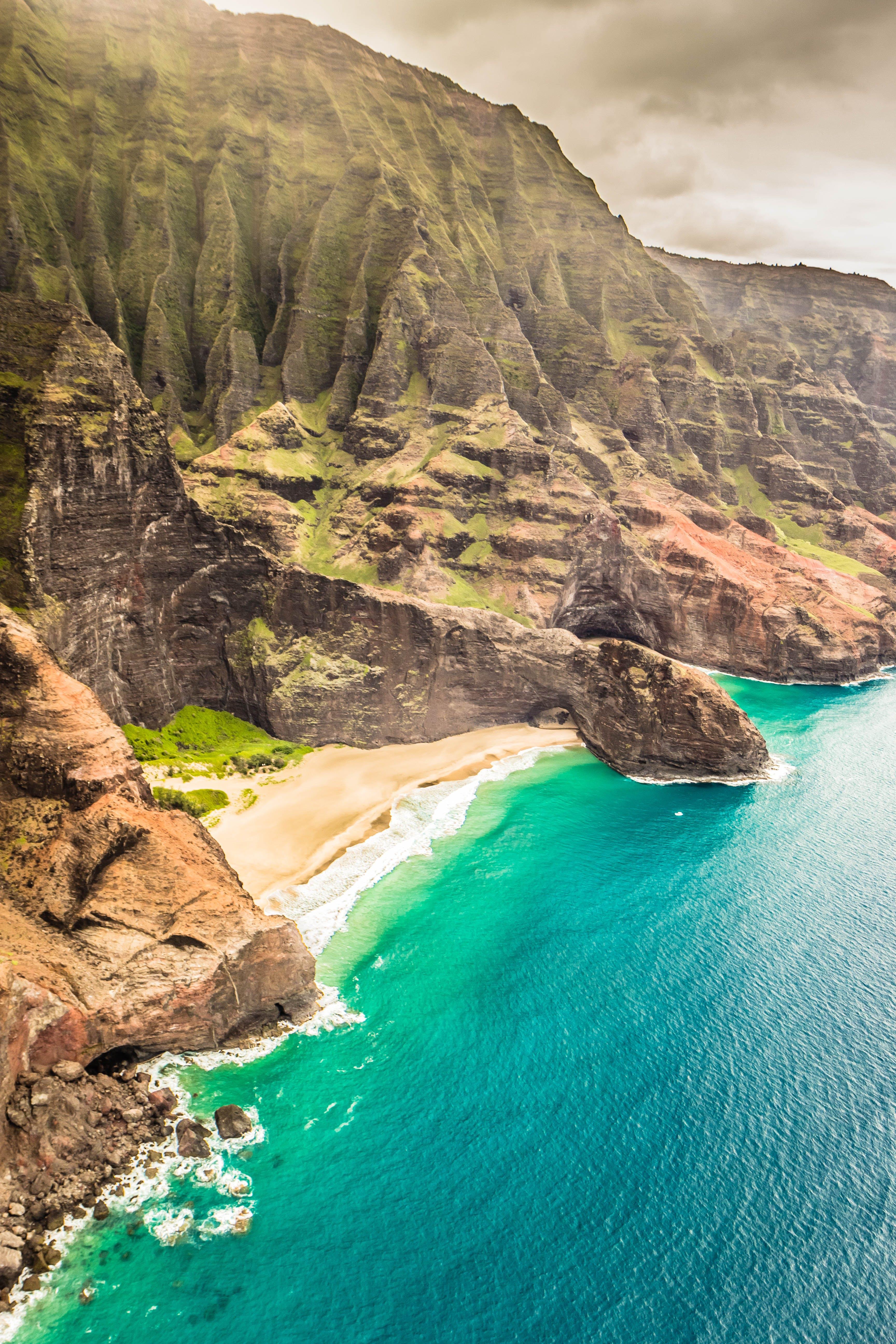Free stock photo of cliff coast, hawaii, kauai, napali coast