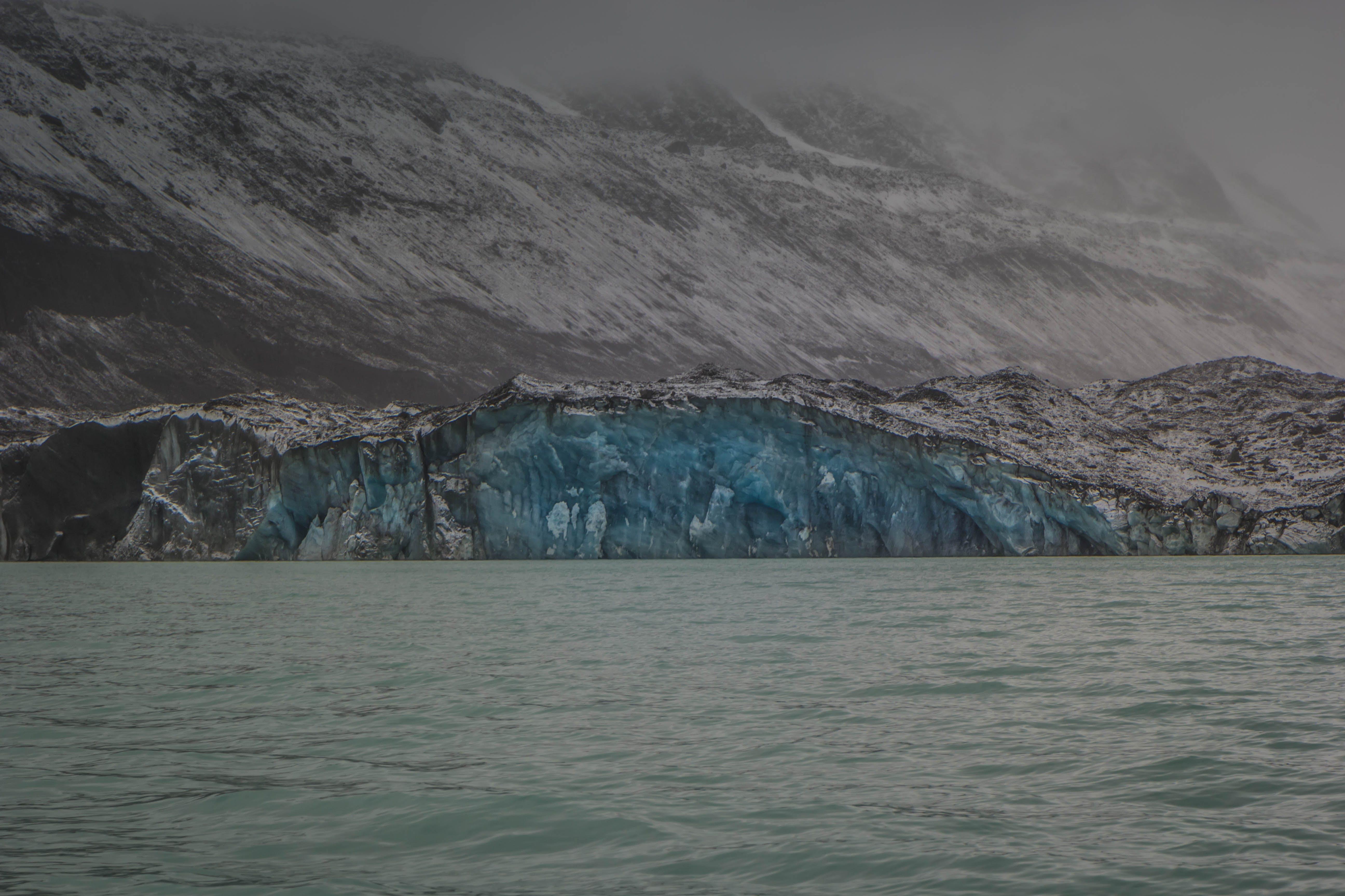 Free stock photo of glacier, lake, icebergs, mount cook