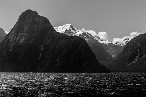 Free stock photo of coast, milford sound, mountains