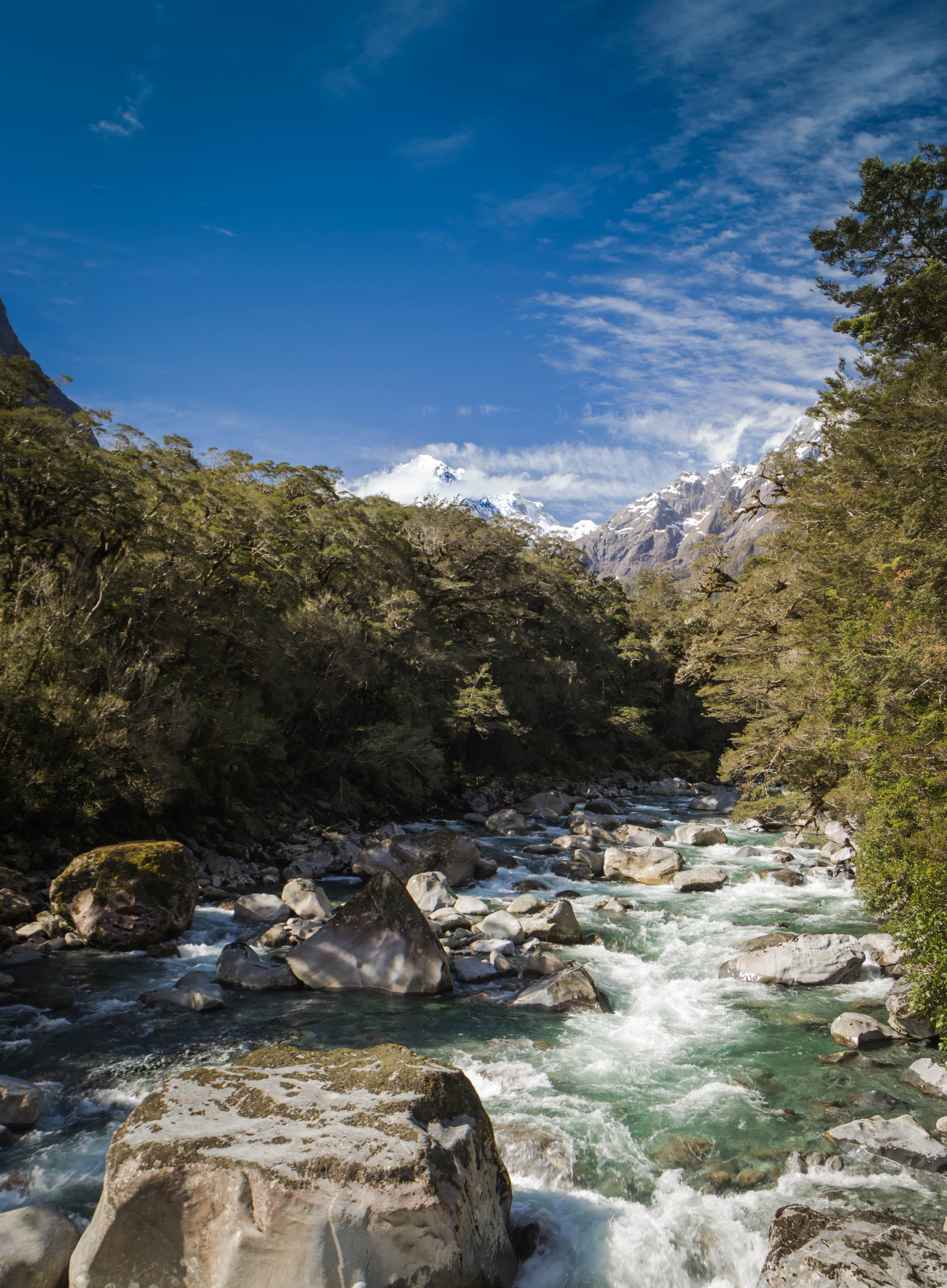 Free stock photo of river, new zealand, snowy mountain