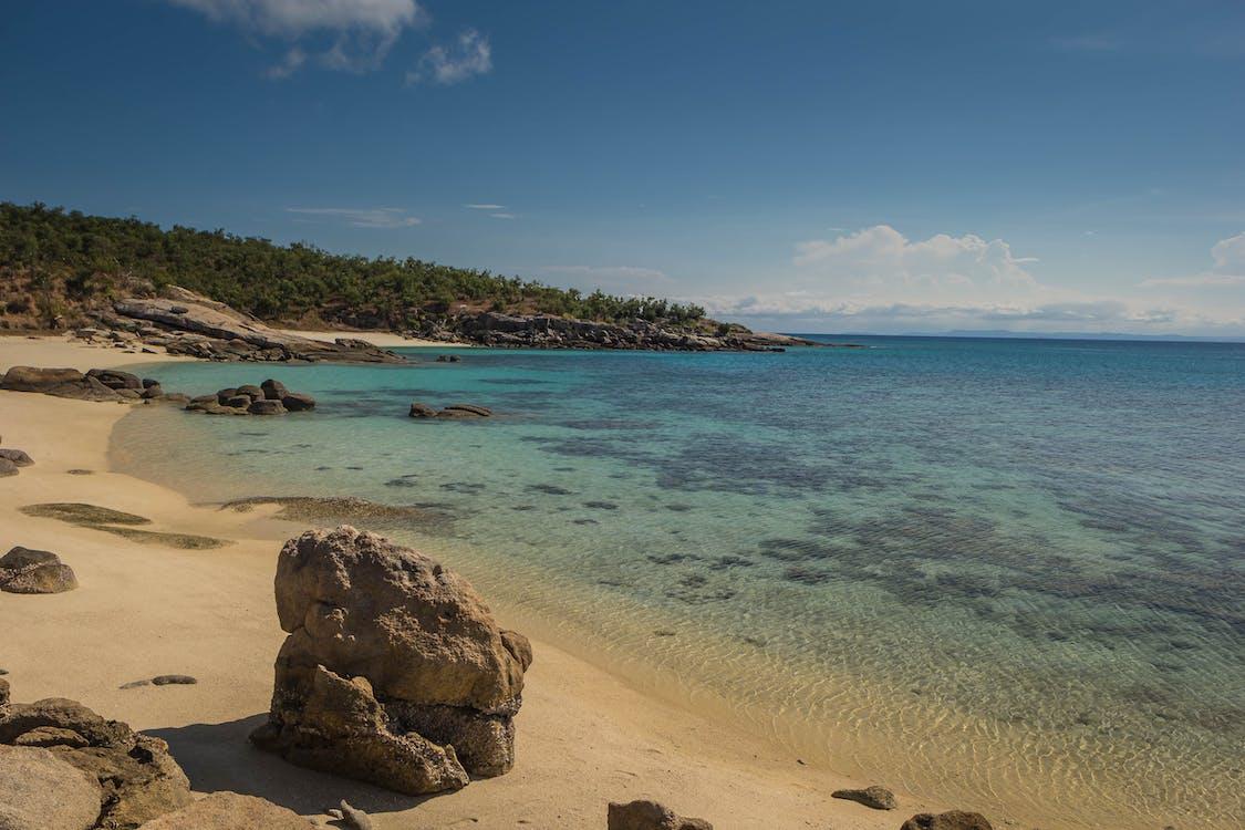 australia, karang penghalang yang bagus, matahari terbenam di pantai