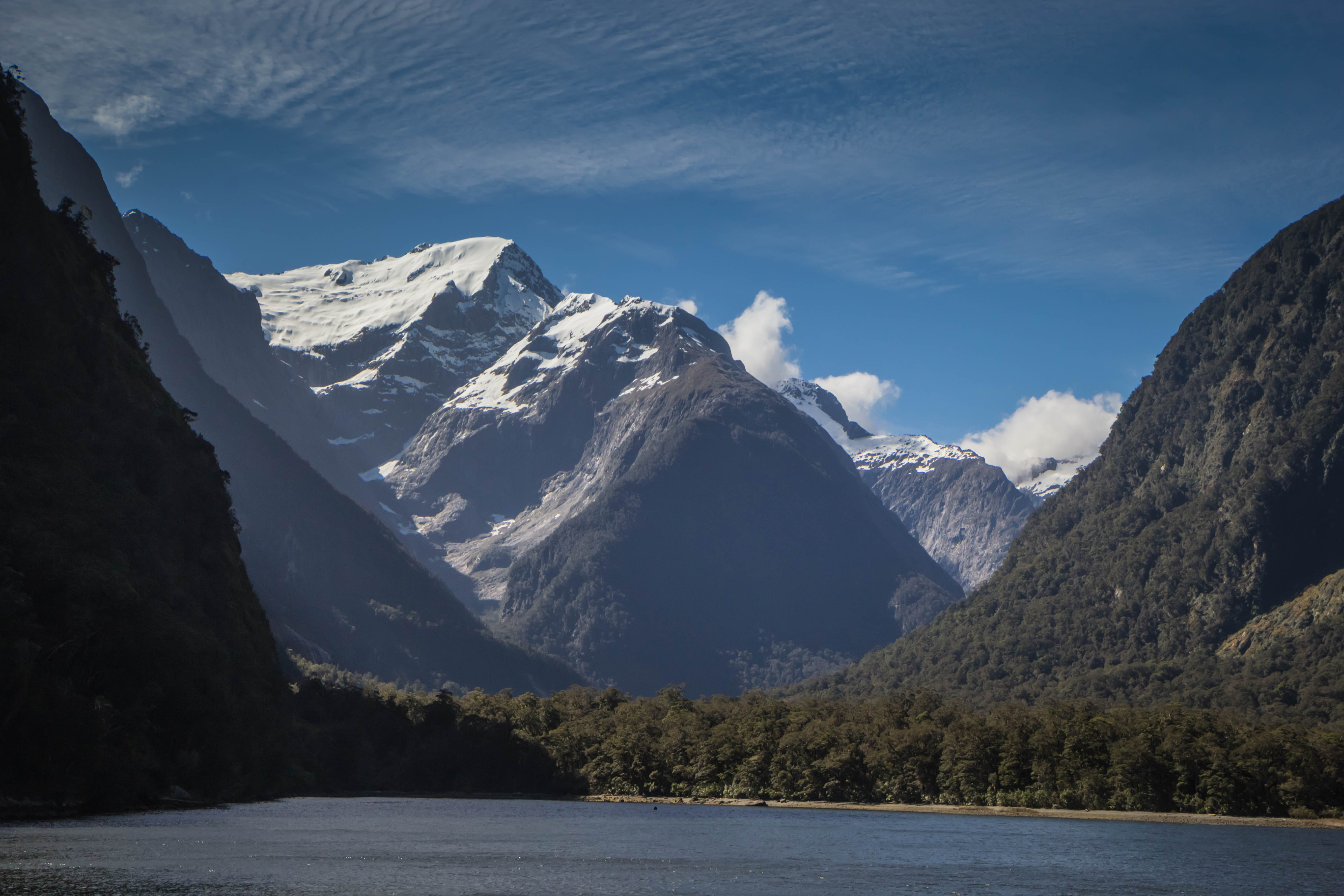 Free stock photo of mountains, new zealand, snow capped mountains, milford sound