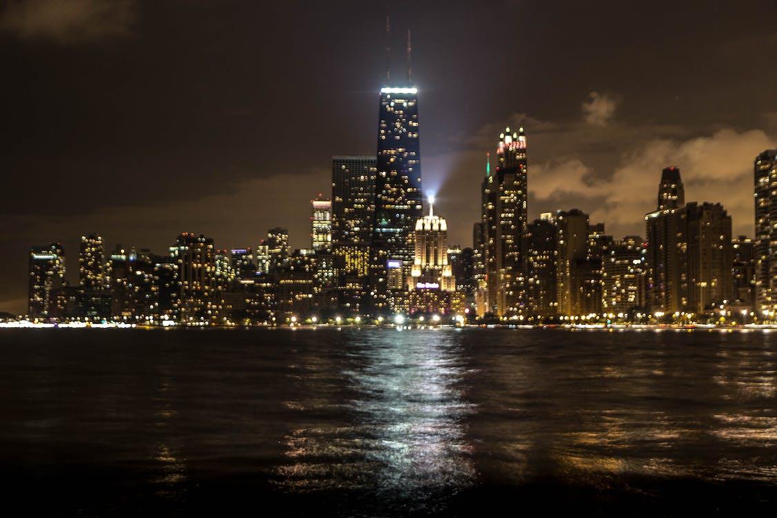 夜景, 市容, 芝加哥