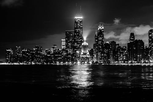 Free stock photo of black and white, chicago, cityscape
