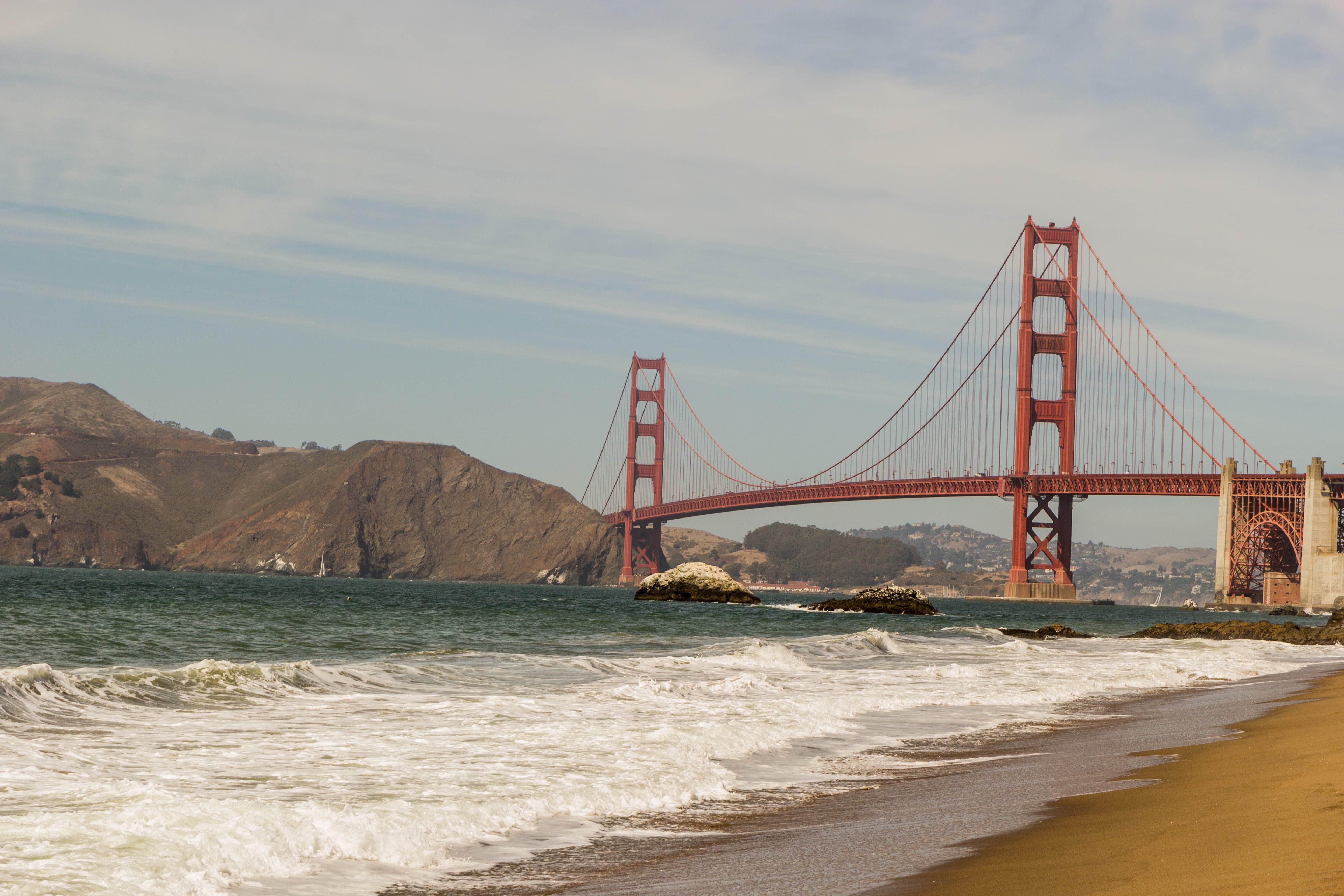 Free stock photo of baker beach, beach, california, golden gate bridge