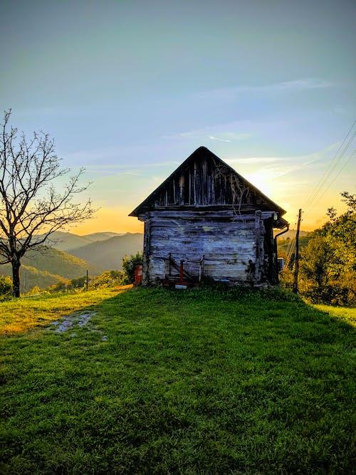 日出, 日落, 穀倉 的 免费素材图片