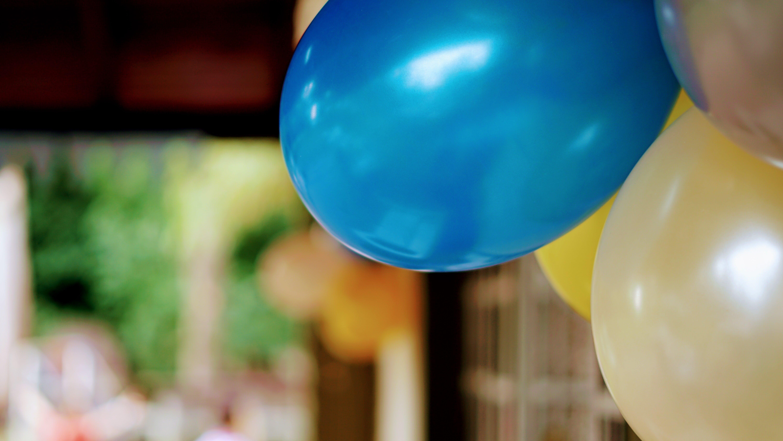 ball-shaped, balloons, blue