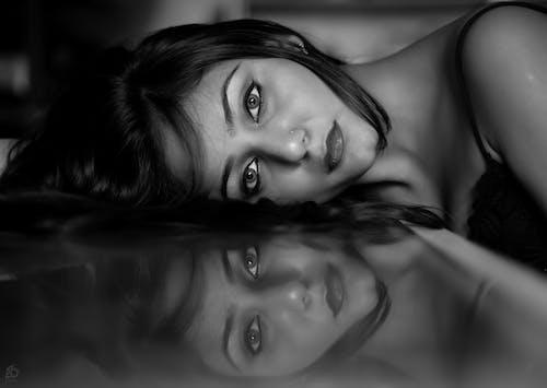 Free stock photo of blackandwhite, eyes, female portrait, IndianFaces