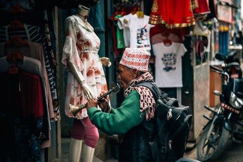 Foto stok gratis adat istiadat, aksesori kepala, alat musik