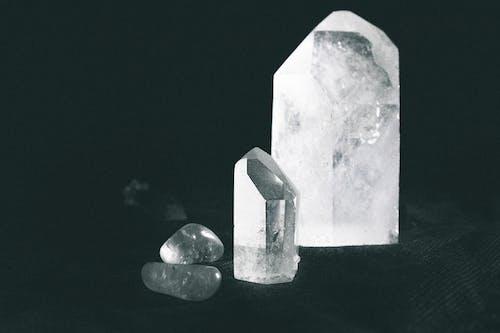 Crystals On Black Cloth