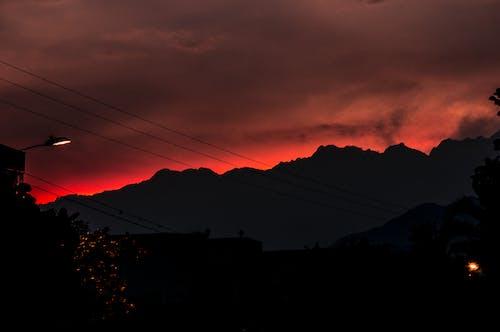 Základová fotografie zdarma na téma červená, hory, kaliko