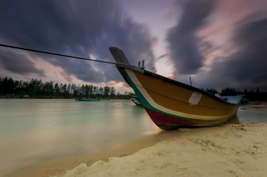 Kostenloses Stock Foto zu meer, landschaft, sonnenuntergang, strand