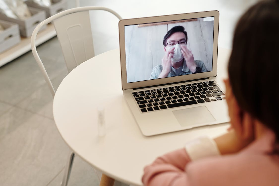 Woman In A Video Call With A Covid-19 Patient